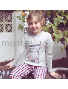Motse Pedrosa | Pijama Niño 12132 de Miss Chic Mandarina