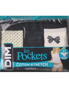 Montse Pedrosa | Pack 3 braguitas algodón Les Pockets D4C17 4V5 de Dim